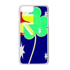 Irish Australian Australia Ireland Shamrock Funny St Patrick Flag Apple iPhone 7 Plus White Seamless Case by yoursparklingshop
