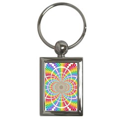 Color Background Structure Lines Key Chains (rectangle)  by Amaryn4rt