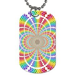 Color Background Structure Lines Dog Tag (two Sides) by Amaryn4rt