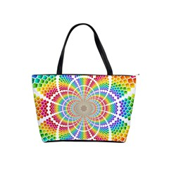 Color Background Structure Lines Shoulder Handbags by Amaryn4rt