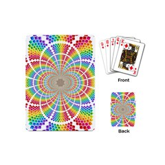 Color Background Structure Lines Playing Cards (mini)  by Amaryn4rt
