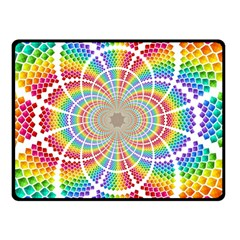 Color Background Structure Lines Double Sided Fleece Blanket (small)  by Amaryn4rt