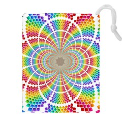 Color Background Structure Lines Drawstring Pouches (xxl)