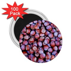 Hazelnuts Nuts Market Brown Nut 2 25  Magnets (100 Pack)