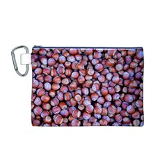 Hazelnuts Nuts Market Brown Nut Canvas Cosmetic Bag (m) by Amaryn4rt