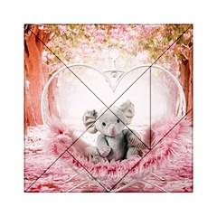 Elephant Heart Plush Vertical Toy Acrylic Tangram Puzzle (6  X 6 )