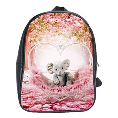 Elephant Heart Plush Vertical Toy School Bags (xl)  by Amaryn4rt