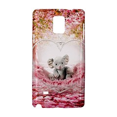 Elephant Heart Plush Vertical Toy Samsung Galaxy Note 4 Hardshell Case