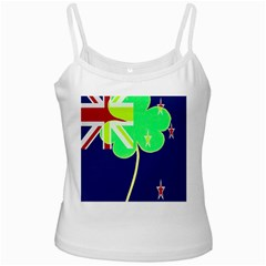 Irishshamrock New Zealand Ireland Funny St Patrick Flag White Spaghetti Tank by yoursparklingshop