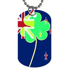 Irishshamrock New Zealand Ireland Funny St Patrick Flag Dog Tag (one Side) by yoursparklingshop