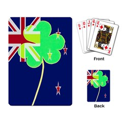 Irishshamrock New Zealand Ireland Funny St Patrick Flag Playing Card by yoursparklingshop