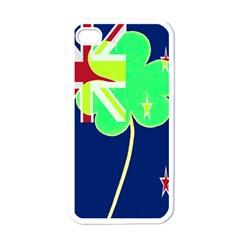 Irishshamrock New Zealand Ireland Funny St Patrick Flag Apple Iphone 4 Case (white) by yoursparklingshop