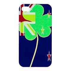 Irishshamrock New Zealand Ireland Funny St Patrick Flag Apple Iphone 4/4s Hardshell Case by yoursparklingshop