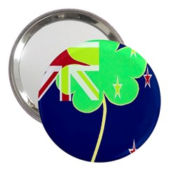 Irishshamrock New Zealand Ireland Funny St Patrick Flag 3  Handbag Mirrors by yoursparklingshop