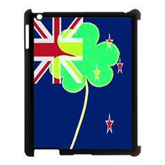 Irishshamrock New Zealand Ireland Funny St Patrick Flag Apple Ipad 3/4 Case (black) by yoursparklingshop