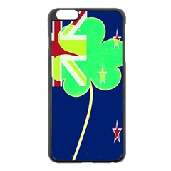 Irishshamrock New Zealand Ireland Funny St Patrick Flag Apple Iphone 6 Plus/6s Plus Black Enamel Case