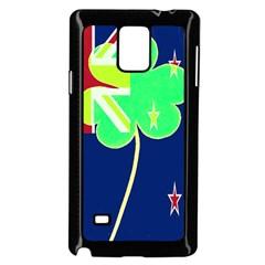 Irish Shamrock New Zealand Ireland Funny St  Patrick Flag Samsung Galaxy Note 4 Case (black) by yoursparklingshop