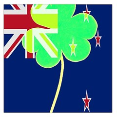 Irish Shamrock New Zealand Ireland Funny St  Patrick Flag Large Satin Scarf (square) by yoursparklingshop