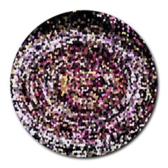 Mosaic Colorful Abstract Circular Round Mousepads by Amaryn4rt