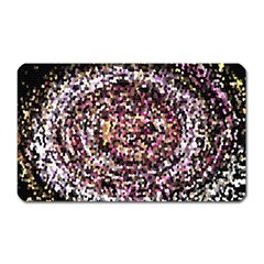 Mosaic Colorful Abstract Circular Magnet (rectangular) by Amaryn4rt