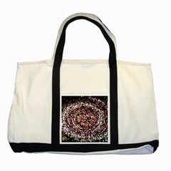 Mosaic Colorful Abstract Circular Two Tone Tote Bag by Amaryn4rt