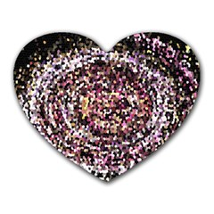 Mosaic Colorful Abstract Circular Heart Mousepads by Amaryn4rt