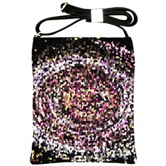 Mosaic Colorful Abstract Circular Shoulder Sling Bags by Amaryn4rt