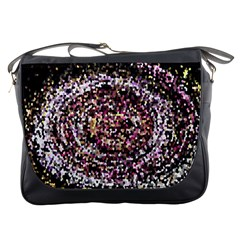 Mosaic Colorful Abstract Circular Messenger Bags by Amaryn4rt