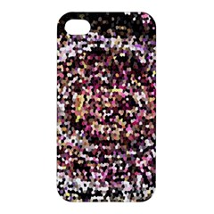 Mosaic Colorful Abstract Circular Apple Iphone 4/4s Premium Hardshell Case by Amaryn4rt