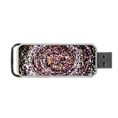 Mosaic Colorful Abstract Circular Portable Usb Flash (two Sides) by Amaryn4rt