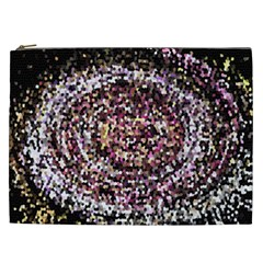 Mosaic Colorful Abstract Circular Cosmetic Bag (xxl)  by Amaryn4rt