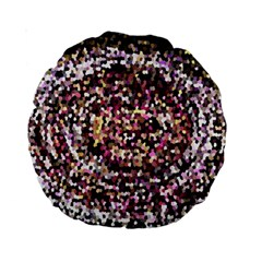 Mosaic Colorful Abstract Circular Standard 15  Premium Round Cushions by Amaryn4rt
