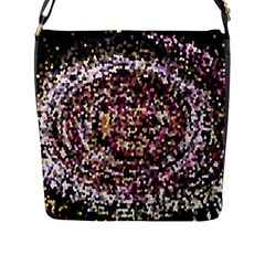 Mosaic Colorful Abstract Circular Flap Messenger Bag (l)  by Amaryn4rt