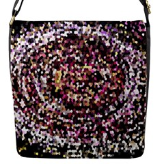 Mosaic Colorful Abstract Circular Flap Messenger Bag (s) by Amaryn4rt