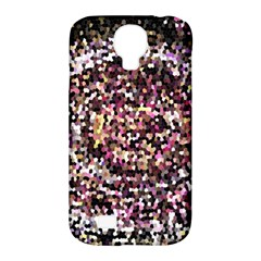 Mosaic Colorful Abstract Circular Samsung Galaxy S4 Classic Hardshell Case (pc+silicone) by Amaryn4rt