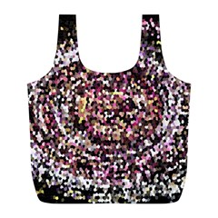 Mosaic Colorful Abstract Circular Full Print Recycle Bags (l)  by Amaryn4rt