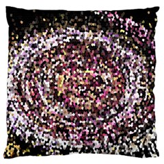 Mosaic Colorful Abstract Circular Standard Flano Cushion Case (one Side) by Amaryn4rt
