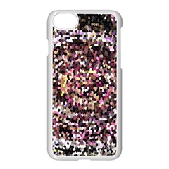Mosaic Colorful Abstract Circular Apple Iphone 7 Seamless Case (white)