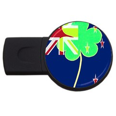 Irish Shamrock New Zealand Ireland Funny St Patrick Flag Usb Flash Drive Round (2 Gb)  by yoursparklingshop
