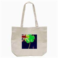 Irish Shamrock New Zealand Ireland Funny St Patrick Flag Tote Bag (cream) by yoursparklingshop