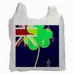 Irish Shamrock New Zealand Ireland Funny St Patrick Flag Recycle Bag (two Side)  by yoursparklingshop