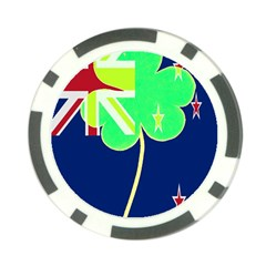 Irish Shamrock New Zealand Ireland Funny St Patrick Flag Poker Chip Card Guards (10 Pack)