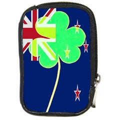 Irish Shamrock New Zealand Ireland Funny St Patrick Flag Compact Camera Cases