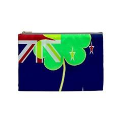 Irish Shamrock New Zealand Ireland Funny St Patrick Flag Cosmetic Bag (medium)