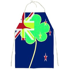 Irish Shamrock New Zealand Ireland Funny St Patrick Flag Full Print Aprons by yoursparklingshop