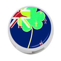 Irish Shamrock New Zealand Ireland Funny St Patrick Flag 4 Port Usb Hub (one Side)