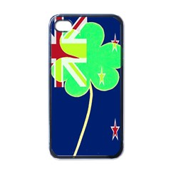 Irish Shamrock New Zealand Ireland Funny St Patrick Flag Apple Iphone 4 Case (black)