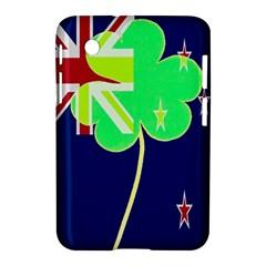Irish Shamrock New Zealand Ireland Funny St Patrick Flag Samsung Galaxy Tab 2 (7 ) P3100 Hardshell Case  by yoursparklingshop