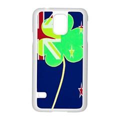 Irish Shamrock New Zealand Ireland Funny St Patrick Flag Samsung Galaxy S5 Case (white) by yoursparklingshop