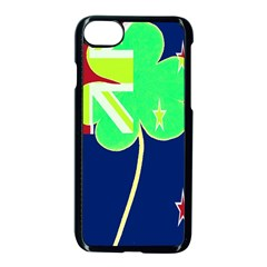 Irish Shamrock New Zealand Ireland Funny St Patrick Flag Apple Iphone 7 Seamless Case (black)